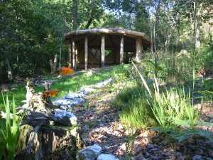 Round house at Hob's Garden, Long Wood, Lampeter