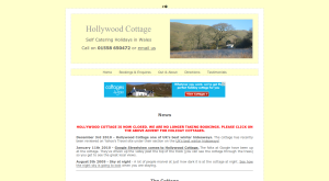 Holiday Cottages Wales   Hollywood Cottage  West Wales
