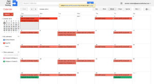 Rose Task Manager - Calendar