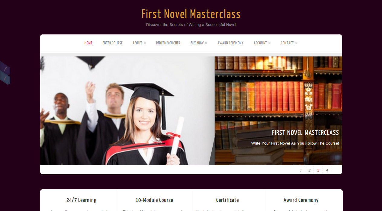 First Novel Masterclass