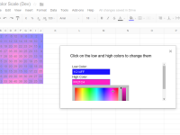 Google Sheet Color Scale Add-on