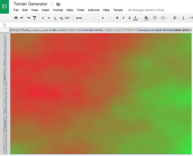 Terrain Generator - Google Sheets