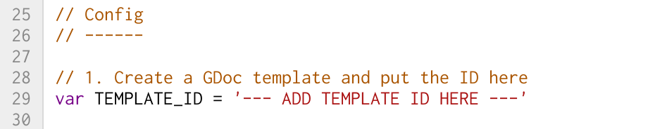 Complete TEMPLATE_ID