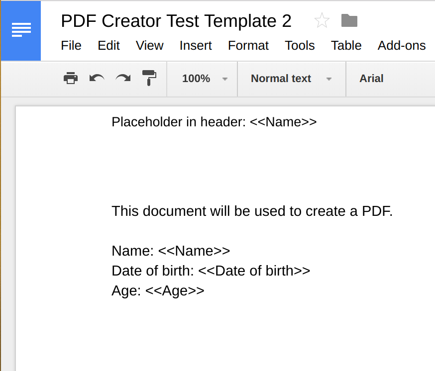 GDoc template example